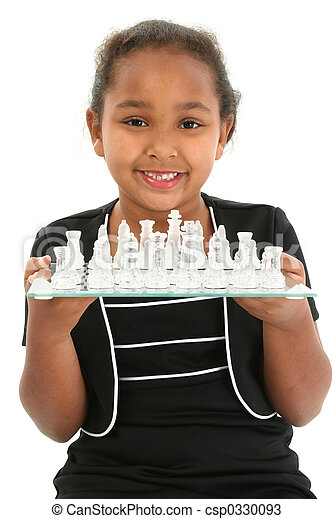 Child with Chess Board - csp0330093