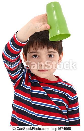 Child with Empty Cup - csp1674968