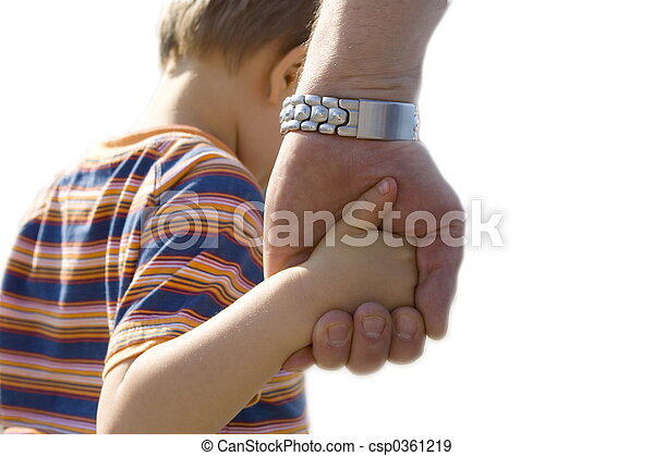 child with father - csp0361219