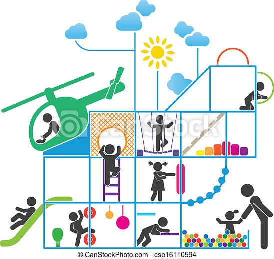 Childhood pictogram illustration - csp16110594