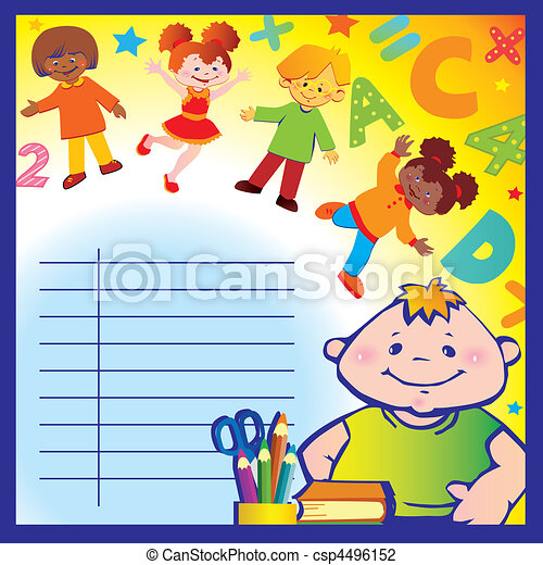 Schule Kindheit. - csp4496152