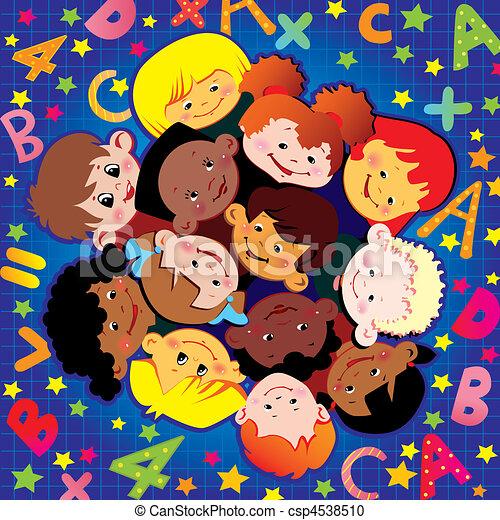 childhood., schule - csp4538510