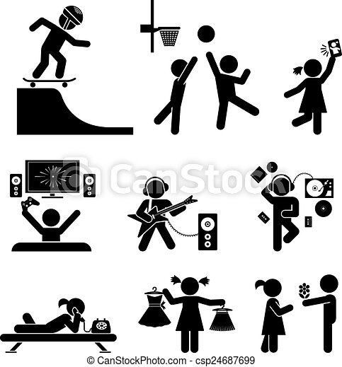 Childhood vector set. Pictogram ico - csp24687699