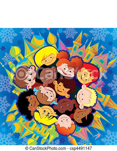 children., שמח - csp4491147