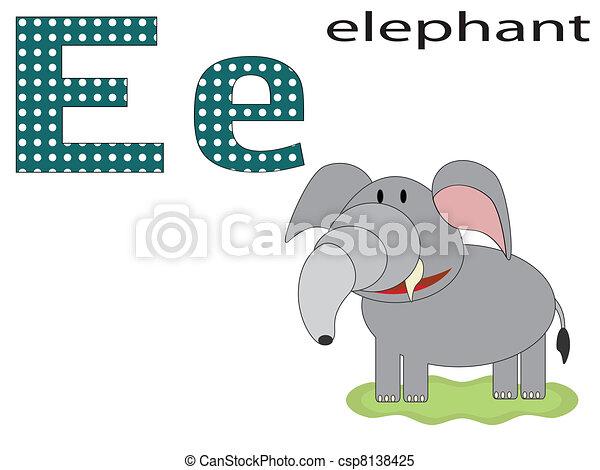 Children  alphabet ,E - csp8138425