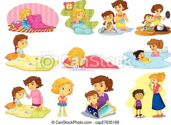 Children And Activities Illustration Of Children Doing Many Activities