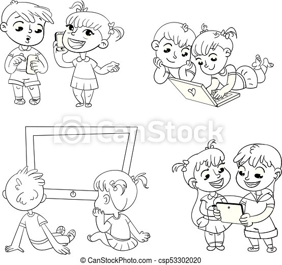 Children And Technical Progress Coloring Book