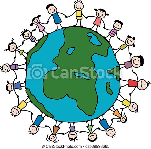 vector illustration of children around the world clip art vector rh canstockphoto com