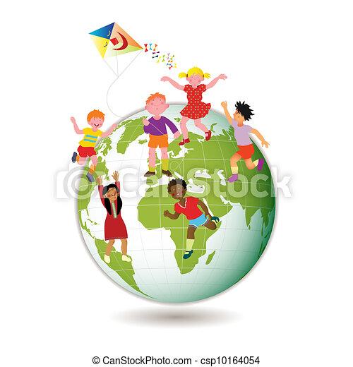 Children Around the World - csp10164054