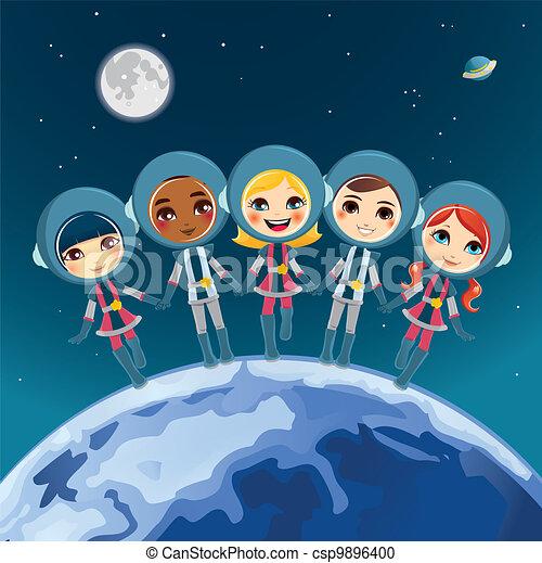 Children Astronaut Dream - csp9896400