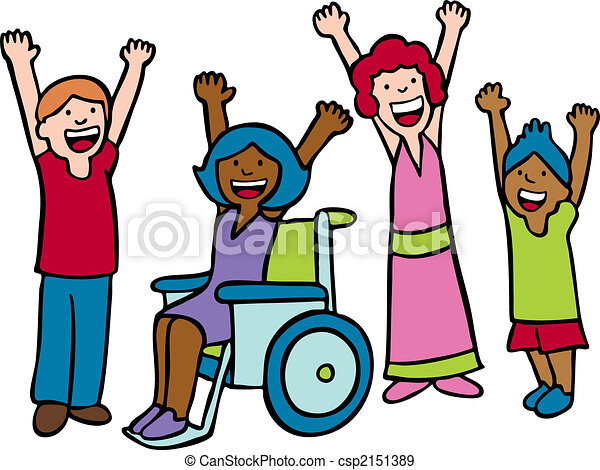 children cheer diverse group of children waving hands and eps rh canstockphoto com  cheer up clipart free