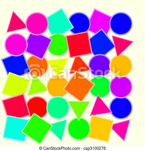 Children education colorful shapes. Colorful geometric ...