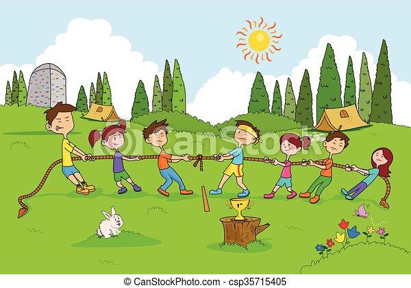 Children Enjoying Summer Camp Activities Children Enjoying Summer