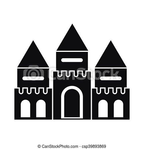Children house castle icon, simple style - csp39893869