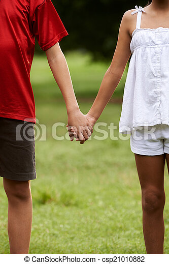 Children In Love Boy And Girl Holding Hands People In Love With