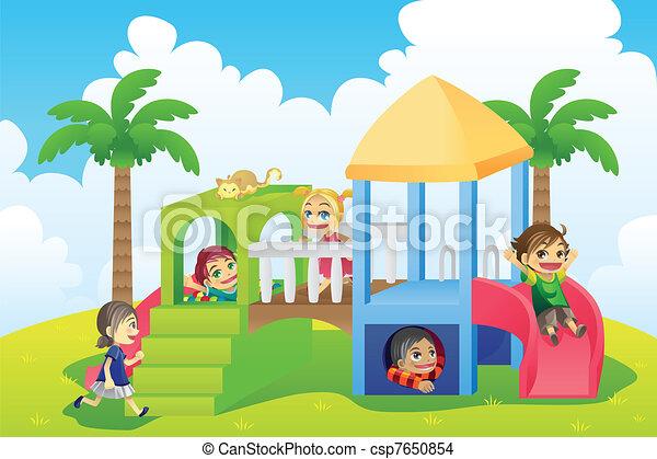 Children in playground - csp7650854