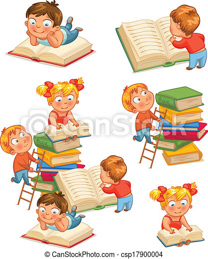 Children in the library - csp17900004