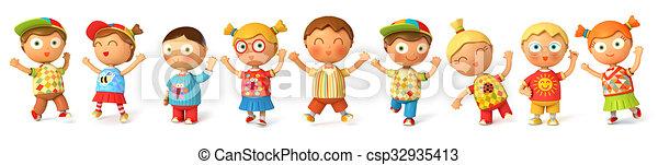 Children jump for joy - csp32935413