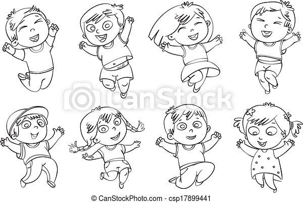 Children jump for joy - csp17899441