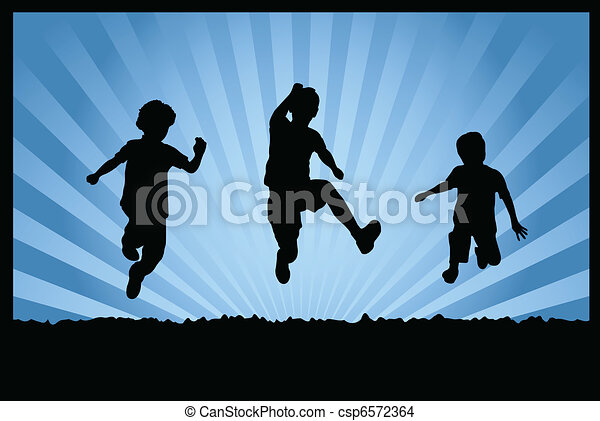 children jumping - csp6572364