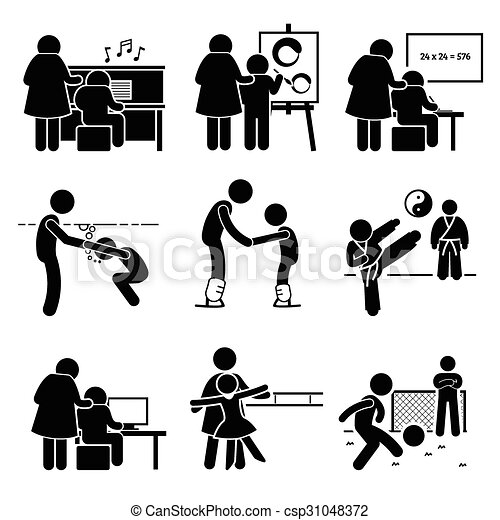 Children Learning Lessons Pictogram - csp31048372
