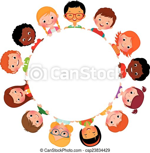 Children of friends of the world - csp23834429