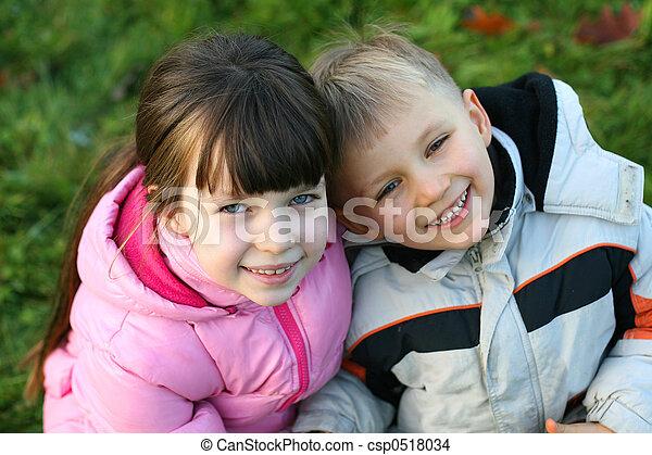 children on a meadow - csp0518034