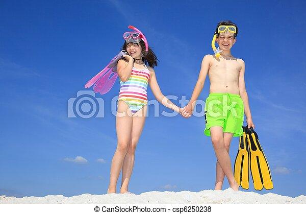 Children on Beach - csp6250238
