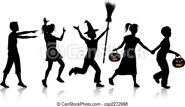 Children on Halloween night - csp2272998