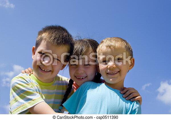 Children on sky - csp0511390