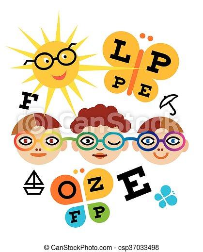 Children optometry test - csp37033498