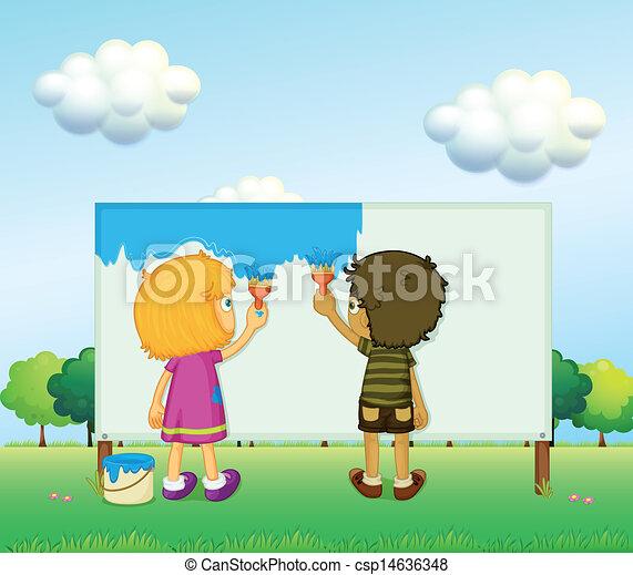 Children painting - csp14636348
