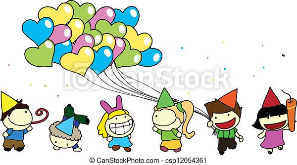 Children Party Background Vector