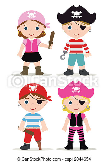 cute set of children pirates rh canstockphoto com pirates clipart black and white pirate clip art for kids