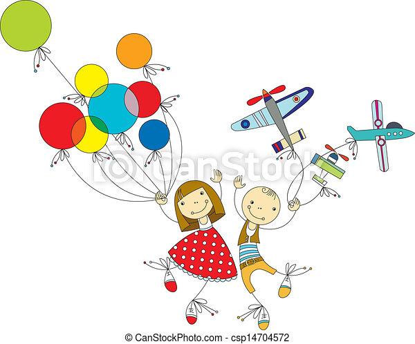 children play - csp14704572
