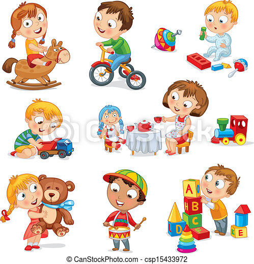 Children play with toys - csp15433972