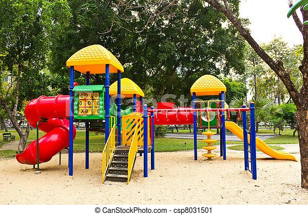 children playground in park - csp8031501