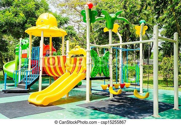 Children playground in park - csp15255867