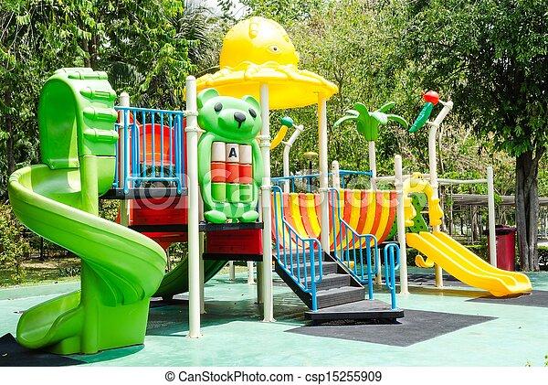 Children playground in park - csp15255909