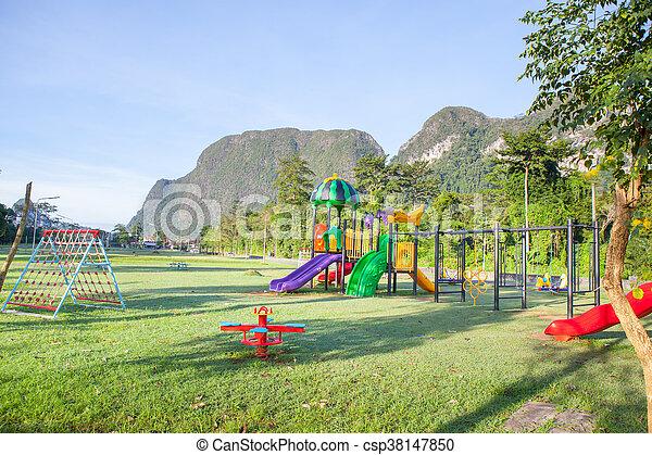 Children playground park. - csp38147850
