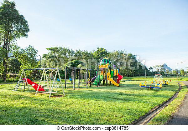 Children playground park. - csp38147851