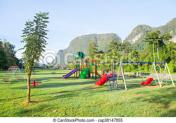 Children playground park. - csp38147855