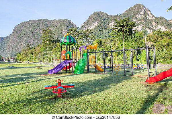 Children playground park. - csp38147856
