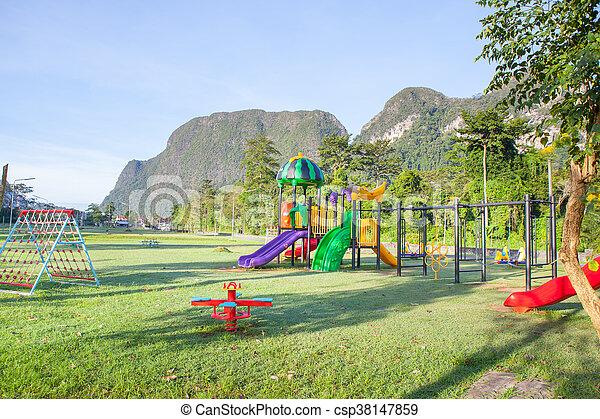 Children playground park. - csp38147859