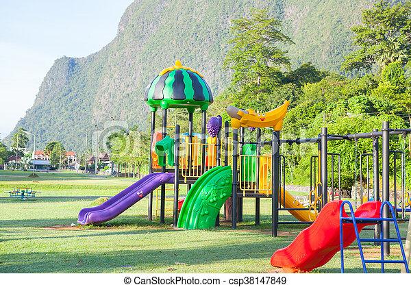 Children playground park. - csp38147849
