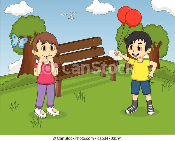 Children playing at the park - csp34703591