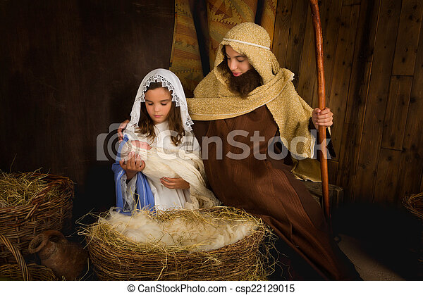 Children playing Christmas - csp22129015