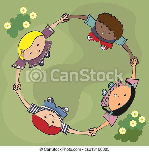 Children playing - csp13108305