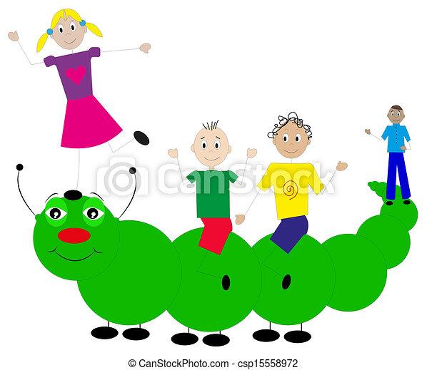 children playing  - csp15558972