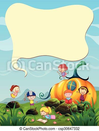 Children playing in the garden - csp30647332
